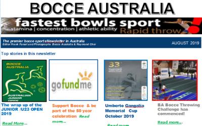Bocce Australia – eNews August 2019