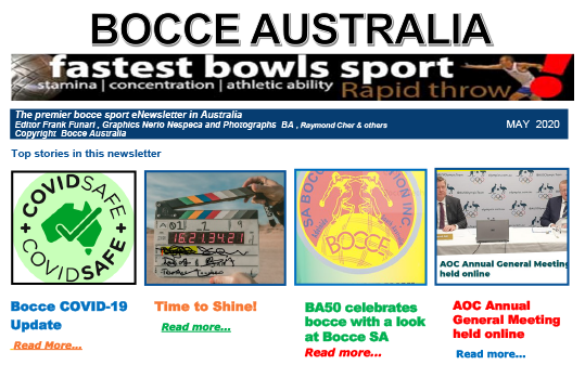 Bocce Australia – eNews May 2020